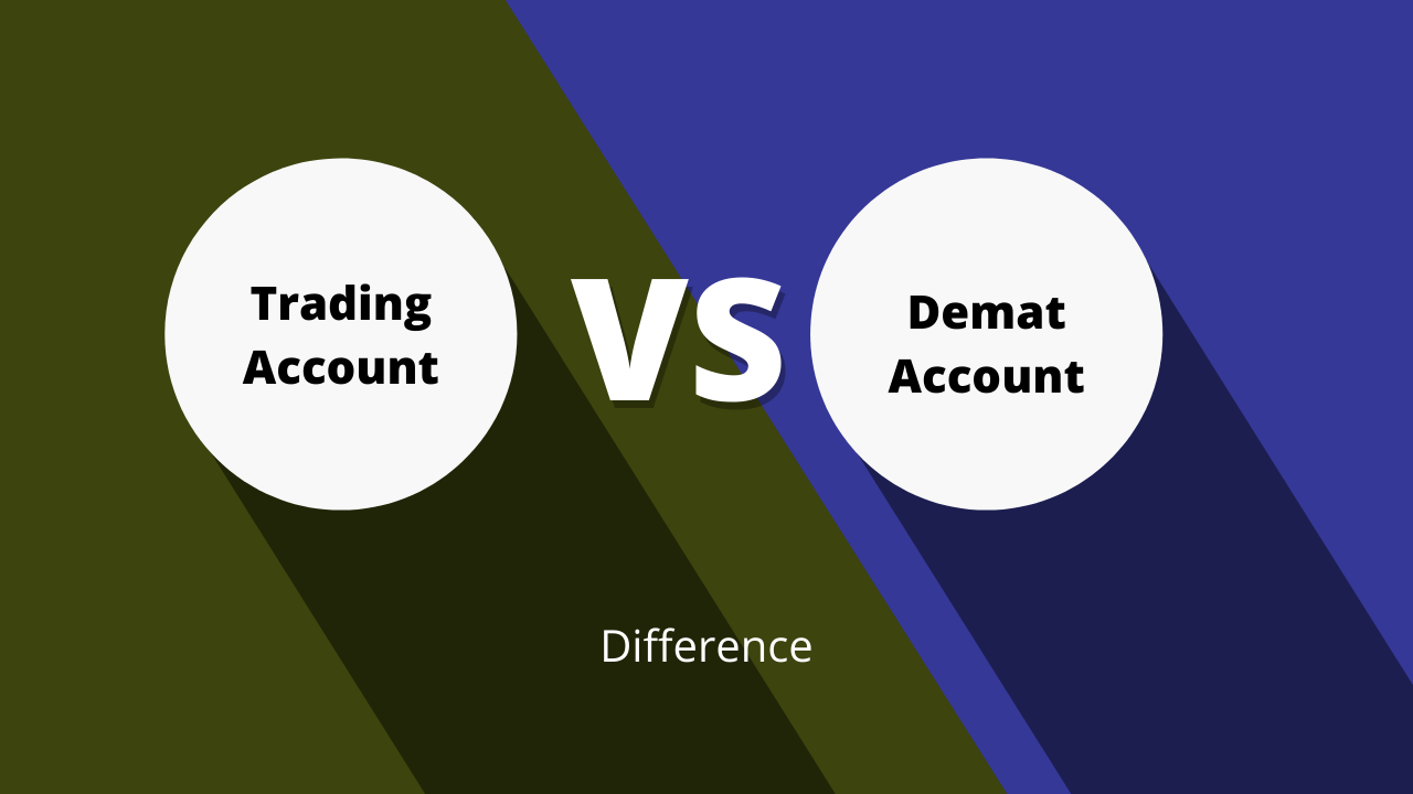 Compare the Functionality of the Demat Account and Trading Account